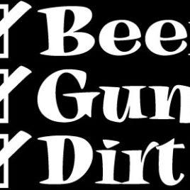 Guns & Ammo 004 Beer Guns Dirt