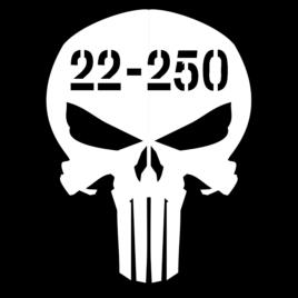 Guns & Ammo 034 Ammo can skull 22-250