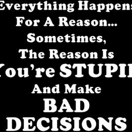 Funny 008 Everything happens for a reason