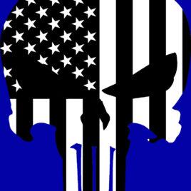 Patriotic 01 Punisher (Black & White)