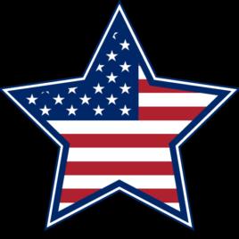 Patriotic 04 Stars And Stripes Star